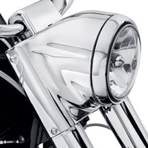FAROL CABECA DE TOURO PARA HARLEY DAVIDSON SOFTAIL ( Freight Train Headlight Nacelle )